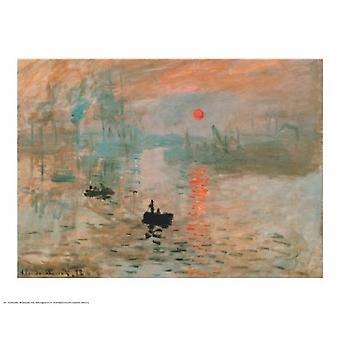 Impressão ao nascer do sol (verde) Poster Print por Claude Monet (30 x 24)