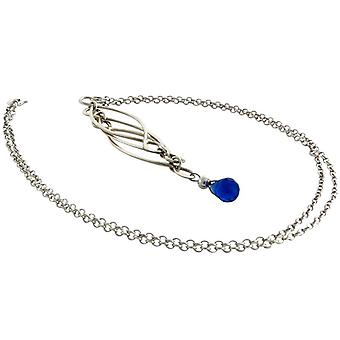 Women's Iolite necklace solid 925 Silver Blue Mobile trailer