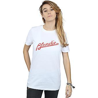 Blondie kvinders linjer Logo kæreste Fit T-Shirt