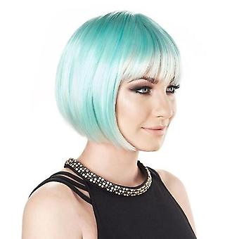 Party Wig - Short Bob - Tropical Blue - Pastel Colours
