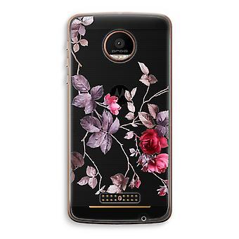 Motorola Moto Z Force Transparent Case (Soft) - Pretty flowers