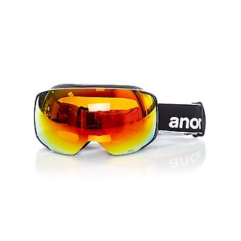 Anon Black-Sonar Red 2018 M2 - With MFI Facemask Snowboarding Goggles
