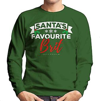 Santas Favourite Brit Christmas Men's Sweatshirt