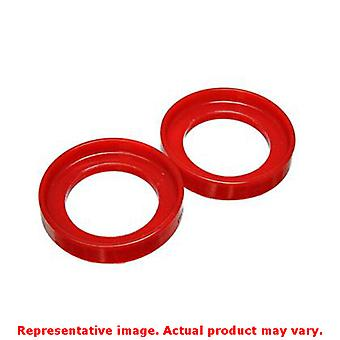 Energy Suspension Coil Spring Isolator Set 16.6103R Red Rear Upper / Lower Fits