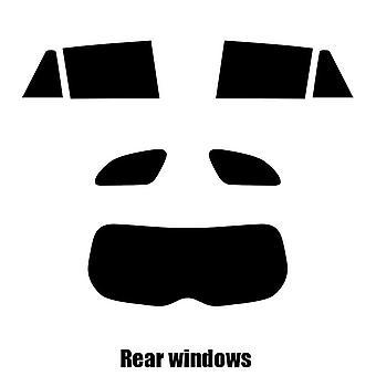 Pre gesneden venster tint - Toyota Avensis Estate - 2009 en nieuwer - achterzijde windows