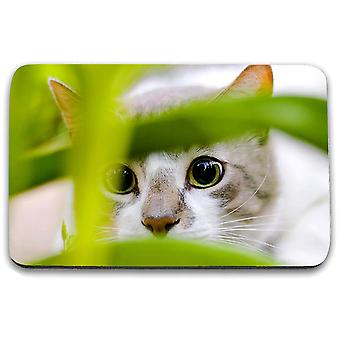 i-Tronixs - Cat Printed Design Non-Slip Rectangular Mouse Mat for Office / Home / Gaming - 10