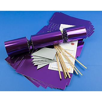 8 Jumbo Purple Foil Make & Fill Your Own Cracker Making Craft Kit