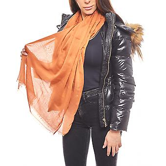 VERO MODA fashion ladies scarf with fringe Orange