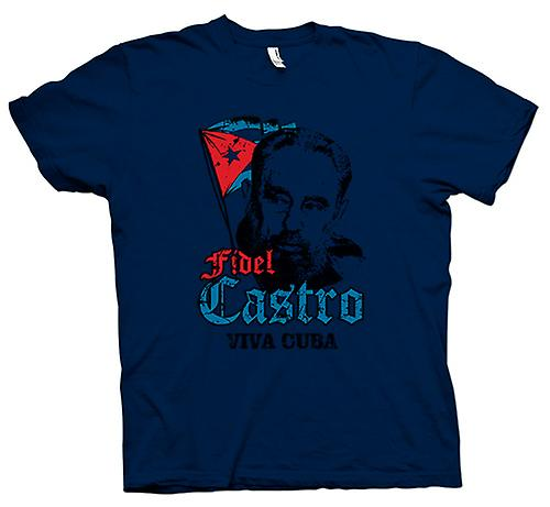 Mens T-shirt - Viva Kuba Fidel Castro - Kommunismus