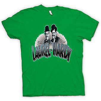 Heren T-shirt - Laurel en Hardy - Kleur