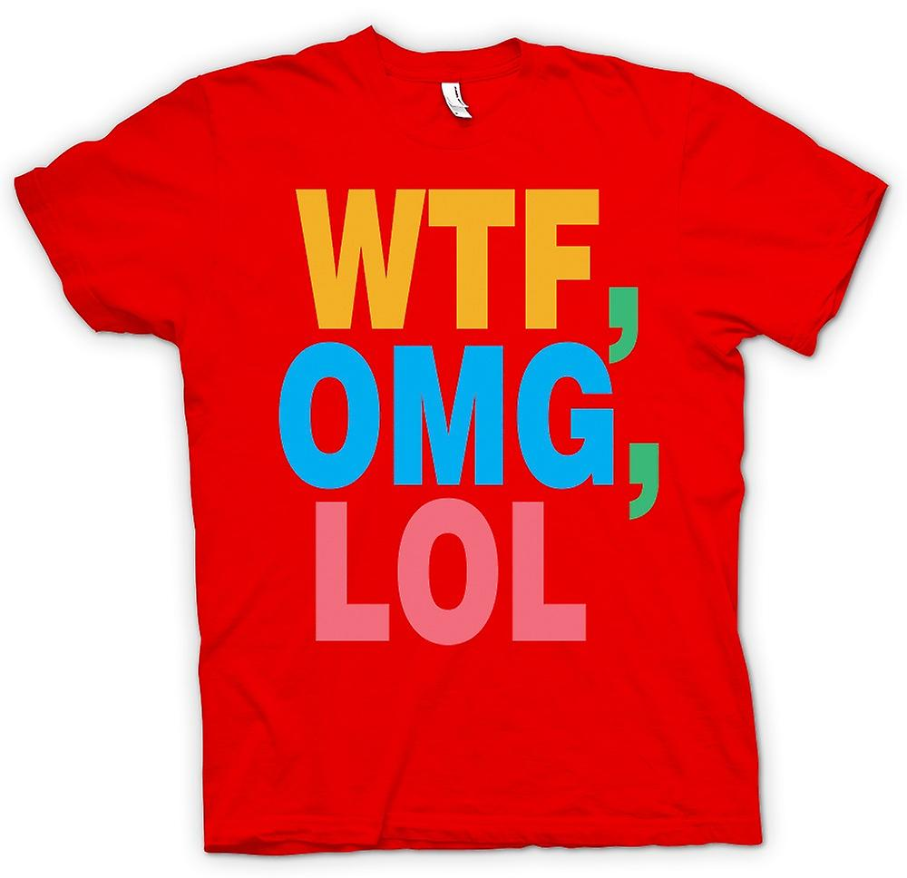 Mens T-shirt - WTF, OMG, LOL - Funny