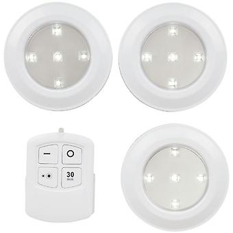 TechBrands Remote Controlled LED Puck Light Triple Pack