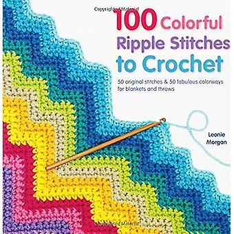 100 kleurrijke rimpel hechtingen te haken