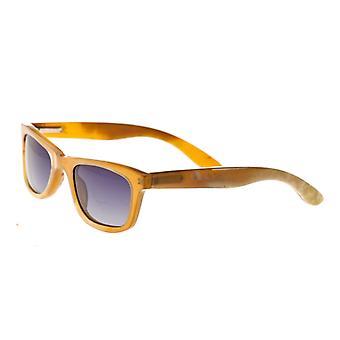 Bertha Zoe Buffalo-Horn Polarized Sunglasses - Vanilla/Black