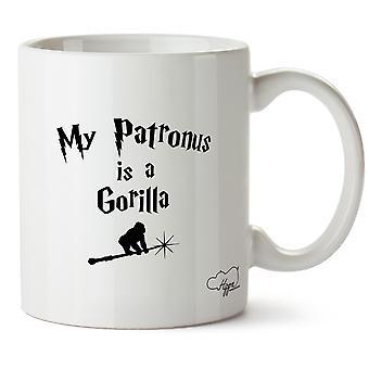 Hippowarehouse mijn Patronus Is een Gorilla afgedrukt mok Cup keramiek 10oz
