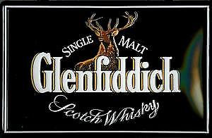 Glenfiddich logo (landscape) embossed metal sign