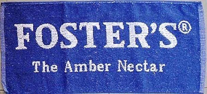 Fosters (Amber Nectar) Lager Cotton Bar Towel    (pp)