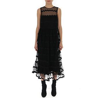 Red Valentino Black Synthetic Fibers Dress