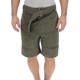 Shorts de algodão verde JW Anderson