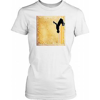 Parkour Flip - gule striber damer T Shirt