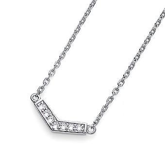 Halskette Bend 925AG RH CZ white
