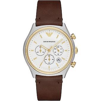 Emporio Armani kwarcowy Czarny męski mężczyźni nadgarstka zegarek AR11033