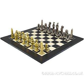 Egyptian Grand Black Chess Set