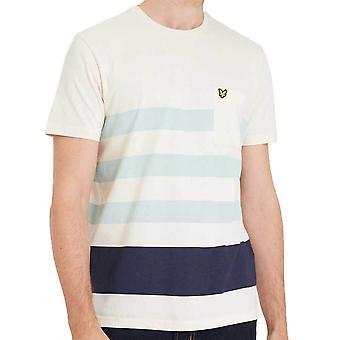 Lyle & Scott Wide Stripe TShirt  Seashell White