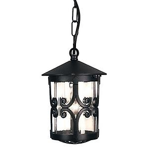 Elstead BL13B BLACK Hereford Traditional Small Tube Outdoor Porch Chain Lantern