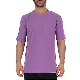 Laneus Purple Cotton T-shirt