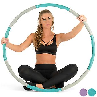 Weighted Hula Hoop Fitness Abs Exercise Workout Padded Collapsible Hoola 1.2kg