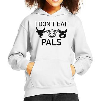 I Dont Eat Pals Cow Sheep Pig Kid's Hooded Sweatshirt