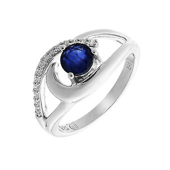 Orphelia Silver 925 Ring With Natural Sapphire And Zirconium ZR-7375
