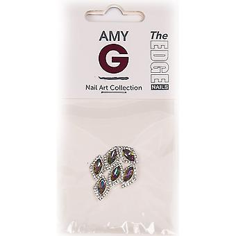 The Edge Nails Amy G - 3D Nail Art Nail Jewels - Rainbow Rhombus (6 PCS) (3003052)