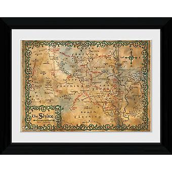 La mappa di Hobbit incorniciato stampa 40x30cm Collector