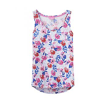 Joules Bo Print Womens Jersey Vest - White Multi Floral