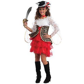 Seven Seas Pirate Buccaneer Karibien Story bok vecka barn flickor kostym