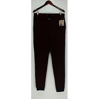 Hottotties mulheres ' s Lounge Pants, shorts do sono francês Jogger vermelho A283204