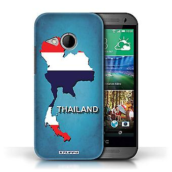 STUFF4 Case/Cover voor HTC One/1 Mini 2/Thailand/Thai/vlag Naties