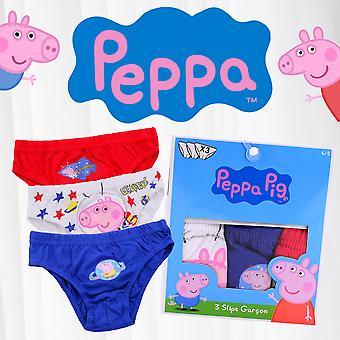 Peppa Big Boys Briefs 3 Pack Children Underwear Set Cotton Pants Multicoloured