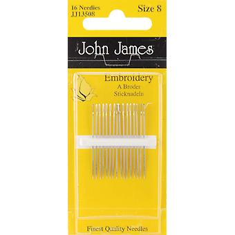 Crewel Embroidery Hand Needles Size 8 16 Pkg Jj135 08
