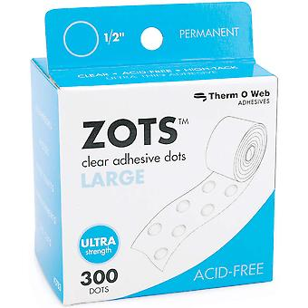 Zots Clear Adhesive Dots Large 1 2
