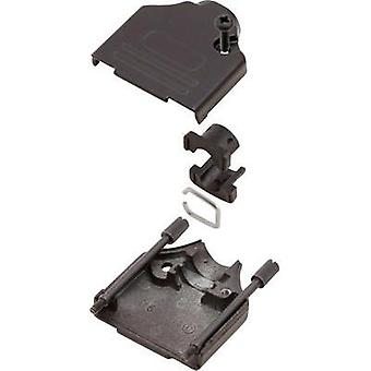 D-SUB housing Number of pins: 15 Metal 180 ° Black MH Connectors MHDTZK15-BK-K 1 pc(s)