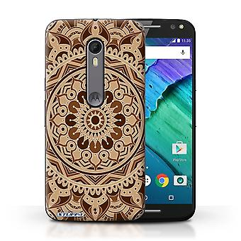 STUFF4 Case/Cover for Motorola Moto X Style/Dream/Sepia/Mandala Art