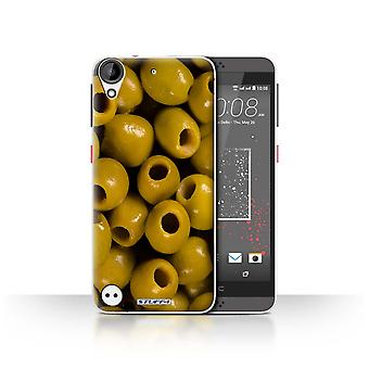 STUFF4 Case/Cover for HTC Desire 630/Olives/Food