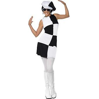 Smiffys 1960S Party Girl Costume With Dress And Hat (Kostuums)