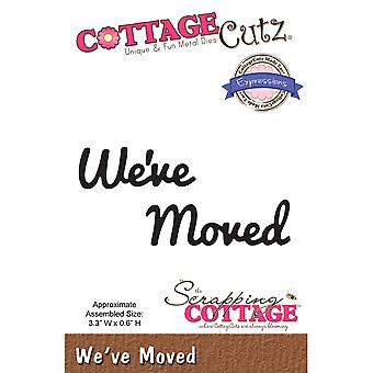 CottageCutz Expressions Die-We've Moved, .6