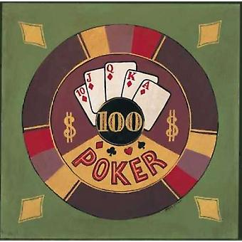 Poker - I00 Poster Print by Gregory Gorham