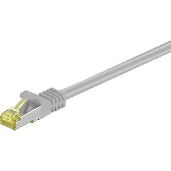 RJ49 Networks Cable S/FTP 30 m Grey incl. detent, gold plated connectors Goobay