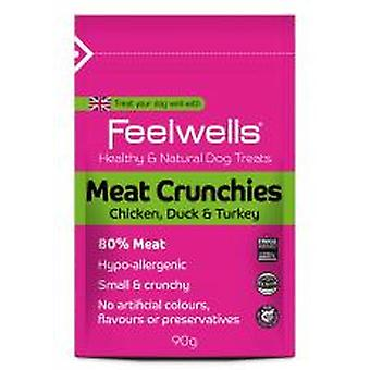 Feelwells kød Crunchies 90g (pakke med 12)